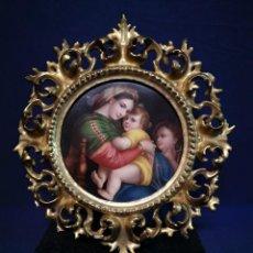 Arte: PINTURA RELIGIOSA SOBRE PLACA DE PORCELANA. Lote 244722210