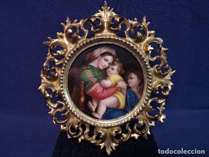 Arte: PINTURA RELIGIOSA SOBRE PLACA DE PORCELANA - Foto 2 - 244722210