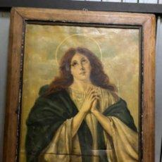 Arte: MARÍA MAGDALENA, ÓLEO SOBRE LIENZO SIGLO XVIII. Lote 244745390