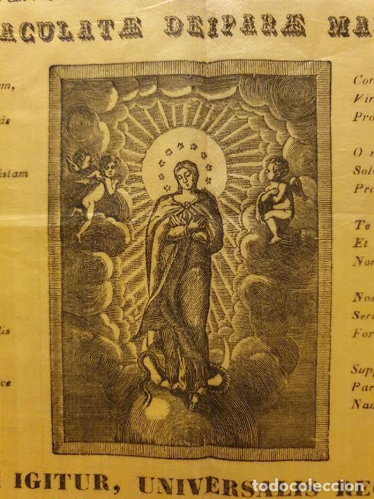 Arte: GRABADO SOBRE SEDA - MARÍA INMACULADA - VIC 1834 - 45,5 X 58 CM. - Foto 6 - 245131760