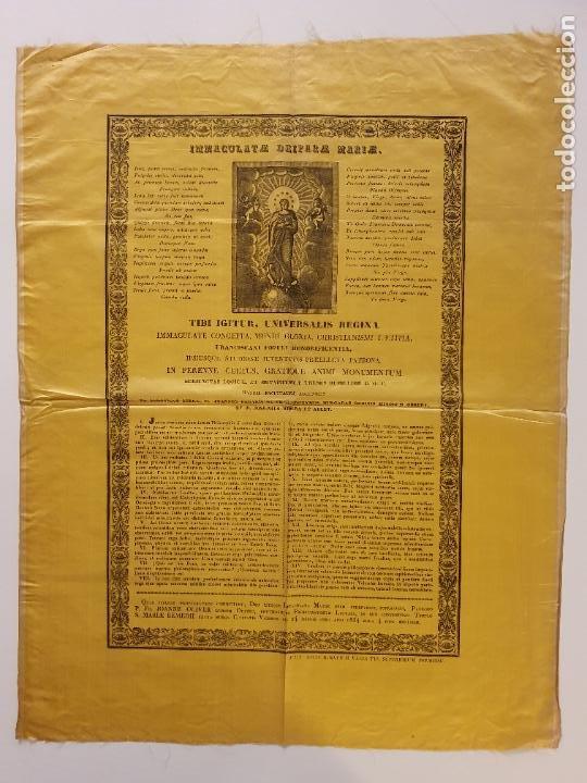 GRABADO SOBRE SEDA - MARÍA INMACULADA - VIC 1834 - 45,5 X 58 CM. (Arte - Arte Religioso - Grabados)