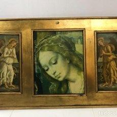 Art: RETABLO TRIPTICO ANTIGUO AÑOS 70-80. Lote 245133050