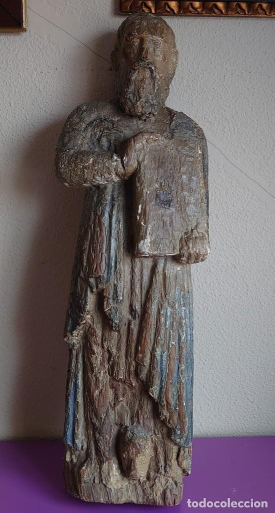 TALLA MADERA ROMANICA TARDIA SAN PABLO SIGLO XIII 73CM (Arte - Arte Religioso - Escultura)