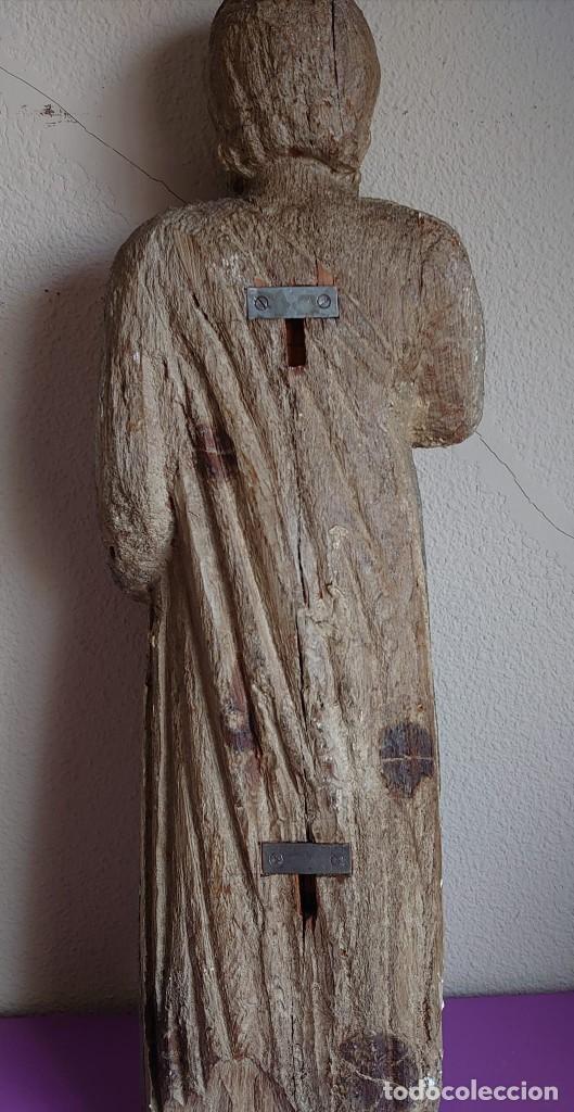 Arte: TALLA MADERA ROMANICA TARDIA SAN PABLO SIGLO XIII 73CM - Foto 2 - 245188035