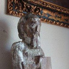 Arte: ESCULTURA MADERA TALLADA ROMANICA GOTICA SIGLO XIII. Lote 245191065