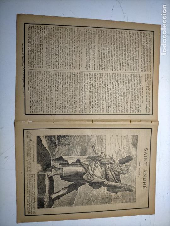 Arte: GRABADO RELIGIOSO 1890 - 1900 - VIDA DEL SANTO DIA SANTORAL - saint san andre andres - Foto 2 - 245274360