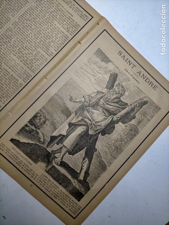 Arte: GRABADO RELIGIOSO 1890 - 1900 - VIDA DEL SANTO DIA SANTORAL - saint san andre andres - Foto 3 - 245274360