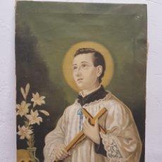 Arte: SAN LUIS GONZAGA ,CUADRO RELIGIOSO ,LIENZO. Lote 245305420