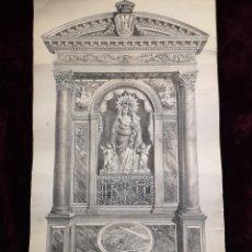 Arte: GRABADO RELIGIOSO - VIRGEN DE LA SIERRA - AÑO 1881 - VISTA DE LA CUIDAD AL PIE DE LA IMAGEN - 37X 63. Lote 245383120