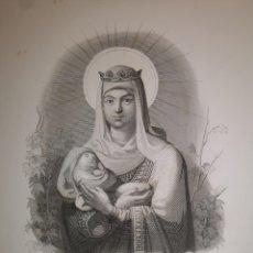 Arte: GRABADO - STA. YSABEL DE HUNGRÍA - SIGLO XIX - 17 X 25 CM. Lote 245400975