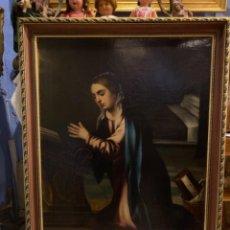 Arte: GRAN ÓLEO DEL SIGLO XVII: LA VIRGEN ORANDO.. Lote 245477605