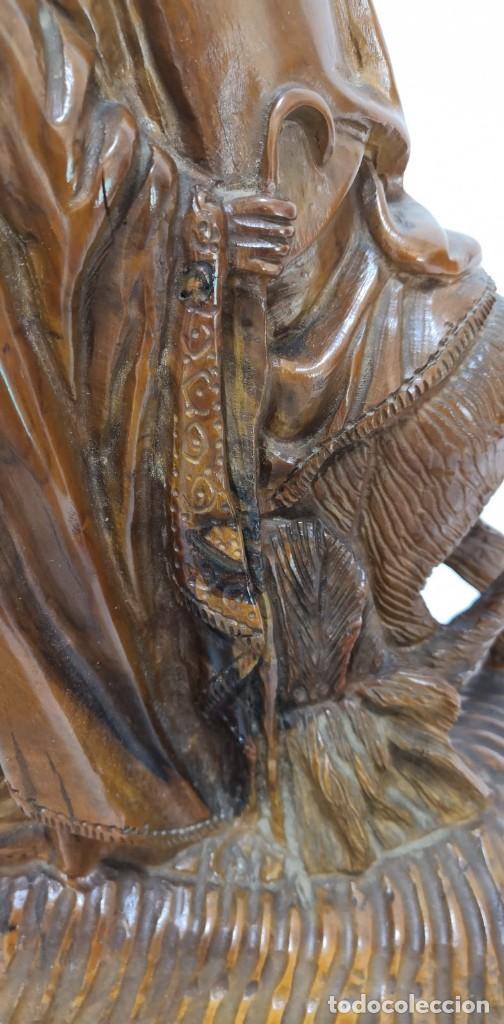 Arte: Preciosa escultura huida a Egipto talla en madera - Foto 4 - 245487130