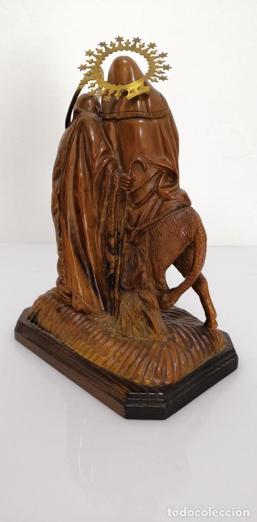 Arte: Preciosa escultura huida a Egipto talla en madera - Foto 5 - 245487130