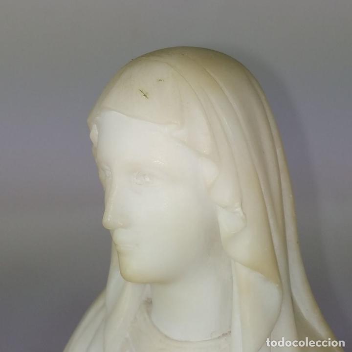 Arte: VIRGEN DE LOURDES. ALABASTRO TALLADO A MANO. FRANCIA (?). SIGLO XIX-XX - Foto 13 - 245900400
