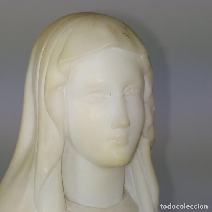 Arte: VIRGEN DE LOURDES. ALABASTRO TALLADO A MANO. FRANCIA (?). SIGLO XIX-XX - Foto 14 - 245900400