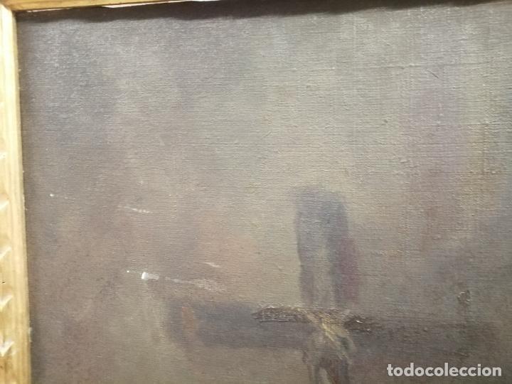 Arte: IMPRESIONANTE ÓLEO DE GRANDES DIMENSIONES DE SAN FRANCISCO DE ASÍS .FINALES S. XIX - PRINCIPIOS S.XX - Foto 2 - 245967910