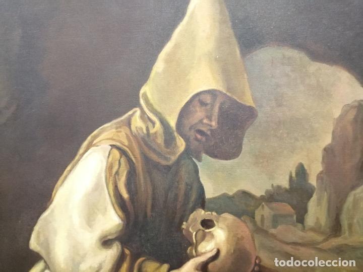 Arte: IMPRESIONANTE ÓLEO DE GRANDES DIMENSIONES DE SAN FRANCISCO DE ASÍS .FINALES S. XIX - PRINCIPIOS S.XX - Foto 6 - 245967910