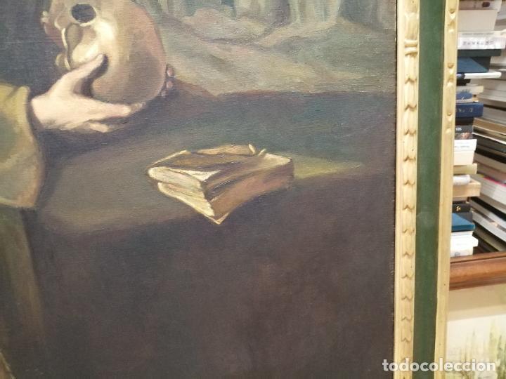 Arte: IMPRESIONANTE ÓLEO DE GRANDES DIMENSIONES DE SAN FRANCISCO DE ASÍS .FINALES S. XIX - PRINCIPIOS S.XX - Foto 10 - 245967910