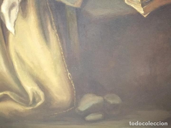 Arte: IMPRESIONANTE ÓLEO DE GRANDES DIMENSIONES DE SAN FRANCISCO DE ASÍS .FINALES S. XIX - PRINCIPIOS S.XX - Foto 12 - 245967910