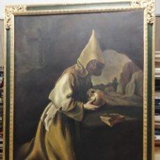 Arte: IMPRESIONANTE ÓLEO DE GRANDES DIMENSIONES DE SAN FRANCISCO DE ASÍS .FINALES S. XIX - PRINCIPIOS S.XX. Lote 245967910