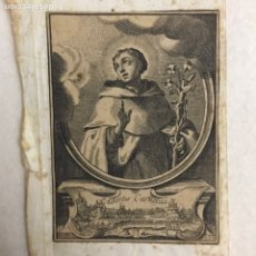 Arte: RELIGIOSO. ORDEN CARMELITA. ANTIGUO GRABADO SAN ALBERTO CARMELITA. Lote 246147455