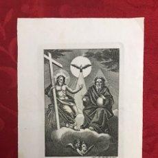 Arte: RELIGIOSO. SEVILLA. GRABADO DE JOSÉ MARÍA MARTÍN - LA SANTÍSIMA TRINIDAD. Lote 246173895