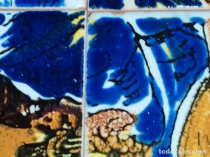Arte: CUADRO COMPOSICIÓN PEQUEÑOS AZULEJOS VALENCIANOS FIRMADO J BOIX? ESCENA NACIMIENTO REYES MAGOS MARCO - Foto 9 - 246191245