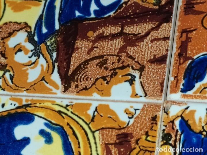 Arte: CUADRO COMPOSICIÓN PEQUEÑOS AZULEJOS VALENCIANOS FIRMADO J BOIX? ESCENA NACIMIENTO REYES MAGOS MARCO - Foto 11 - 246191245