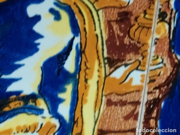 Arte: CUADRO COMPOSICIÓN PEQUEÑOS AZULEJOS VALENCIANOS FIRMADO J BOIX? ESCENA NACIMIENTO REYES MAGOS MARCO - Foto 15 - 246191245