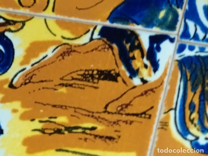 Arte: CUADRO COMPOSICIÓN PEQUEÑOS AZULEJOS VALENCIANOS FIRMADO J BOIX? ESCENA NACIMIENTO REYES MAGOS MARCO - Foto 18 - 246191245