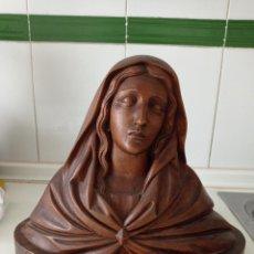Arte: ANTIGUO BUSTO DE LA VIRGEN MARÍA EN MADERA (NOGAL). Lote 246242425