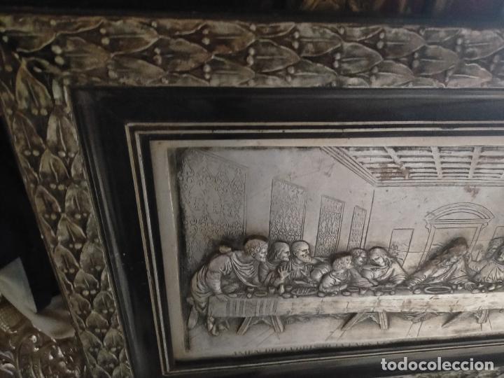 Arte: santa cena , con magnifico marco de madera 67x42 cm - Foto 3 - 246427550