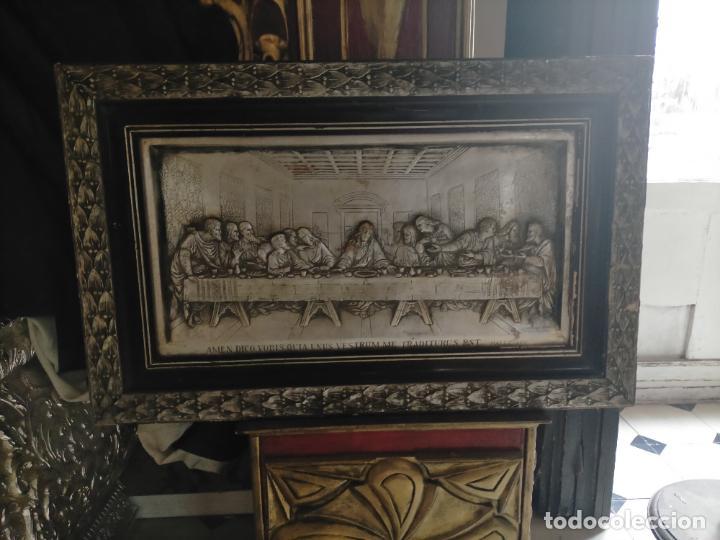 Arte: santa cena , con magnifico marco de madera 67x42 cm - Foto 4 - 246427550