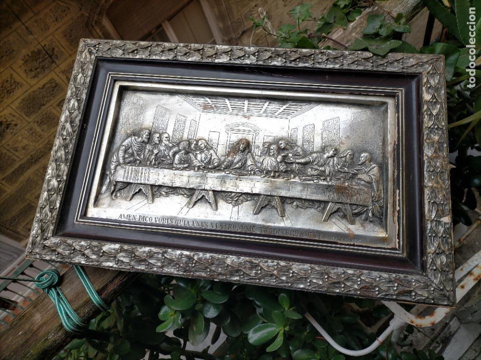 Arte: santa cena , con magnifico marco de madera 67x42 cm - Foto 14 - 246427550