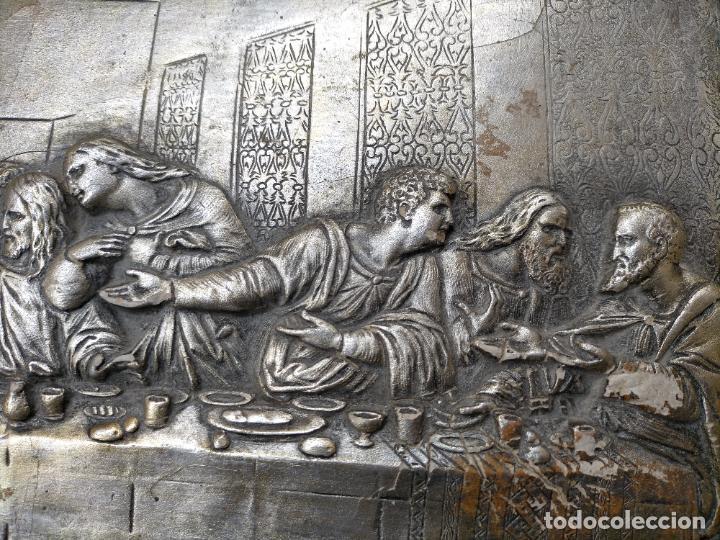Arte: santa cena , con magnifico marco de madera 67x42 cm - Foto 16 - 246427550