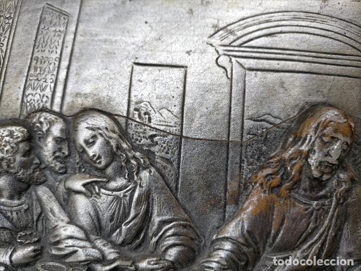 Arte: santa cena , con magnifico marco de madera 67x42 cm - Foto 17 - 246427550