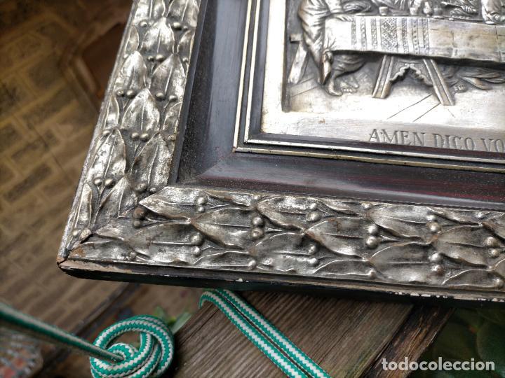 Arte: santa cena , con magnifico marco de madera 67x42 cm - Foto 19 - 246427550