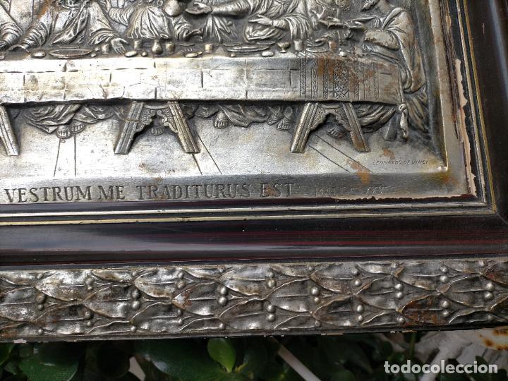 Arte: santa cena , con magnifico marco de madera 67x42 cm - Foto 21 - 246427550