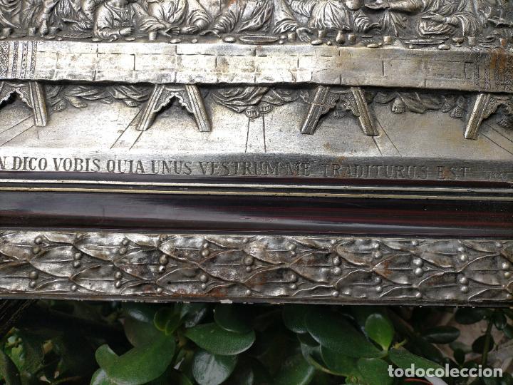 Arte: santa cena , con magnifico marco de madera 67x42 cm - Foto 22 - 246427550