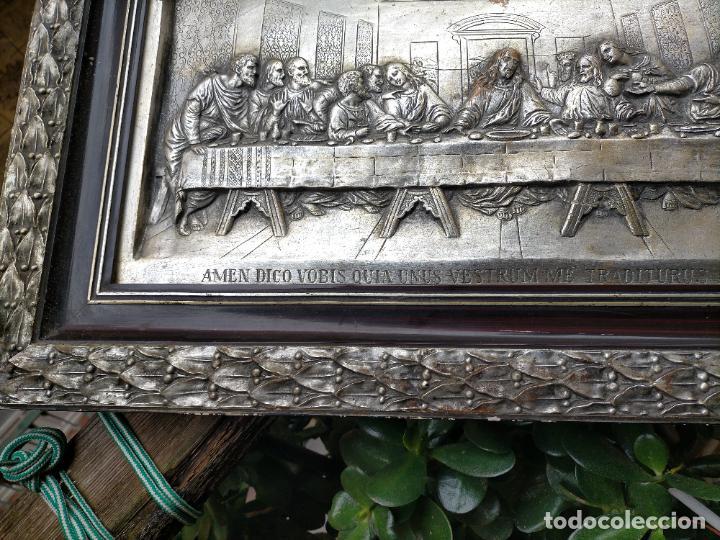 Arte: santa cena , con magnifico marco de madera 67x42 cm - Foto 23 - 246427550