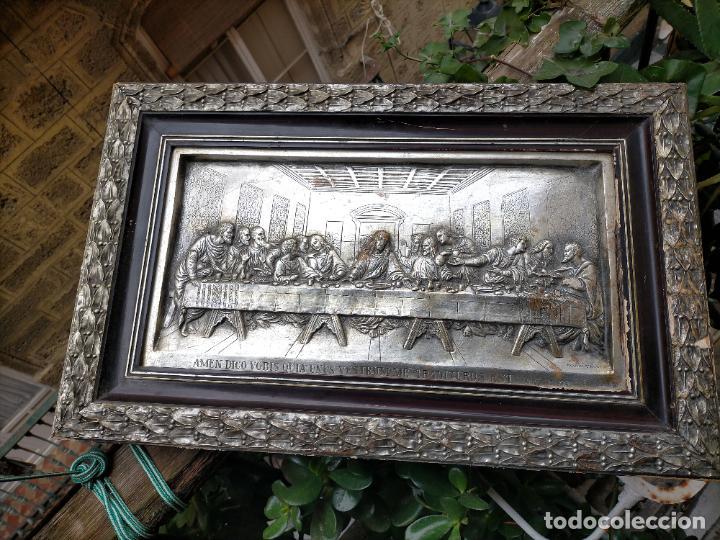 Arte: santa cena , con magnifico marco de madera 67x42 cm - Foto 24 - 246427550