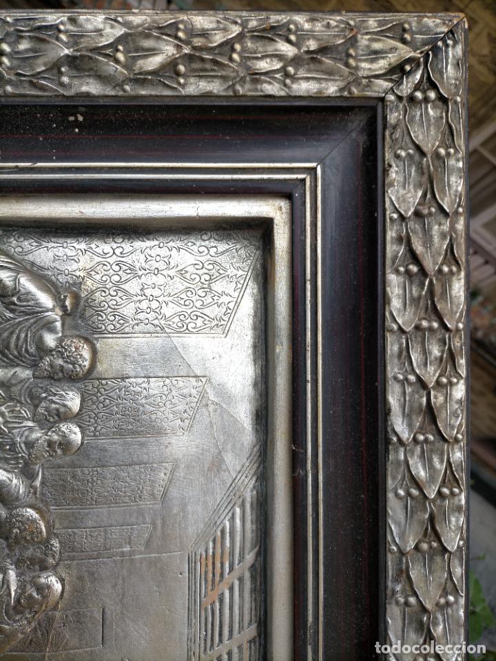 Arte: santa cena , con magnifico marco de madera 67x42 cm - Foto 25 - 246427550