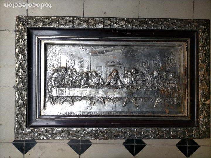 Arte: santa cena , con magnifico marco de madera 67x42 cm - Foto 32 - 246427550