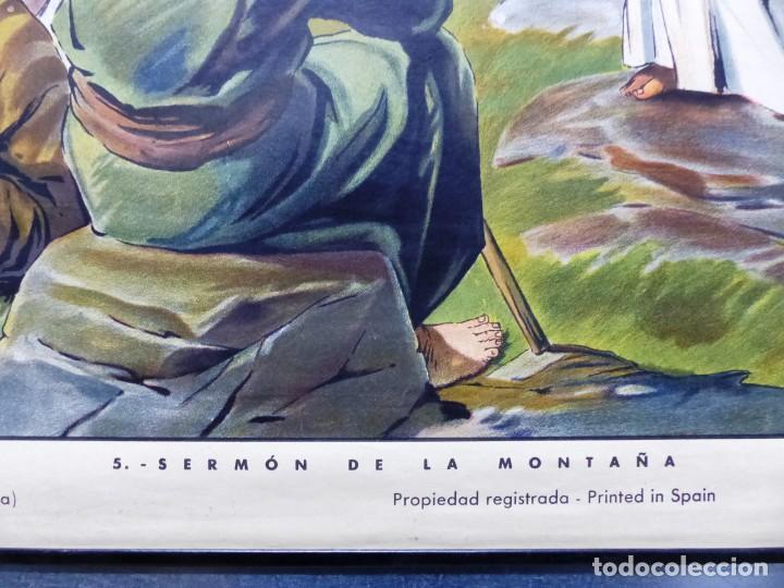 Arte: 10 LAMINAS MURALES DE HISTORIA SAGRADA, ED. SEIX BARRAL, AÑOS 1950 - VER FOTOS ADICIONALES - Foto 5 - 246644880