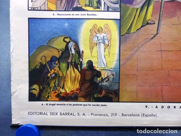 Arte: 10 LAMINAS MURALES DE HISTORIA SAGRADA, ED. SEIX BARRAL, AÑOS 1950 - VER FOTOS ADICIONALES - Foto 13 - 246644880