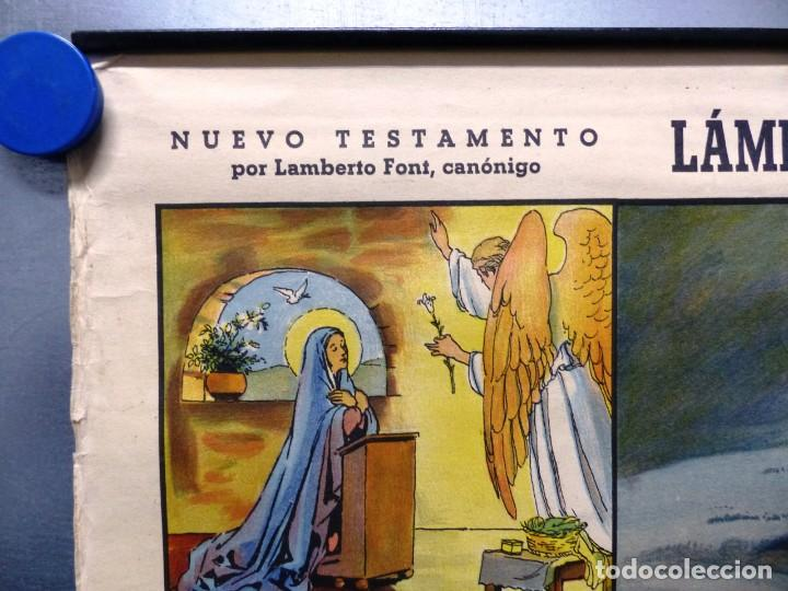 Arte: 10 LAMINAS MURALES DE HISTORIA SAGRADA, ED. SEIX BARRAL, AÑOS 1950 - VER FOTOS ADICIONALES - Foto 17 - 246644880
