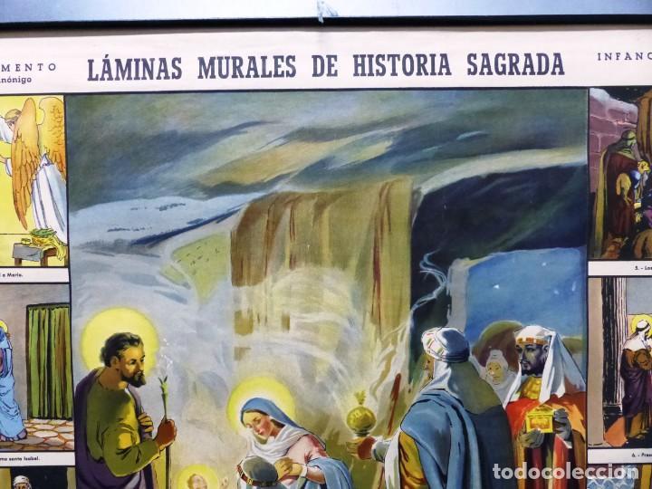 Arte: 10 LAMINAS MURALES DE HISTORIA SAGRADA, ED. SEIX BARRAL, AÑOS 1950 - VER FOTOS ADICIONALES - Foto 18 - 246644880