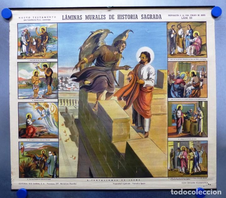 Arte: 10 LAMINAS MURALES DE HISTORIA SAGRADA, ED. SEIX BARRAL, AÑOS 1950 - VER FOTOS ADICIONALES - Foto 21 - 246644880