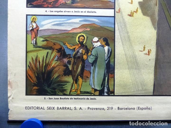 Arte: 10 LAMINAS MURALES DE HISTORIA SAGRADA, ED. SEIX BARRAL, AÑOS 1950 - VER FOTOS ADICIONALES - Foto 22 - 246644880