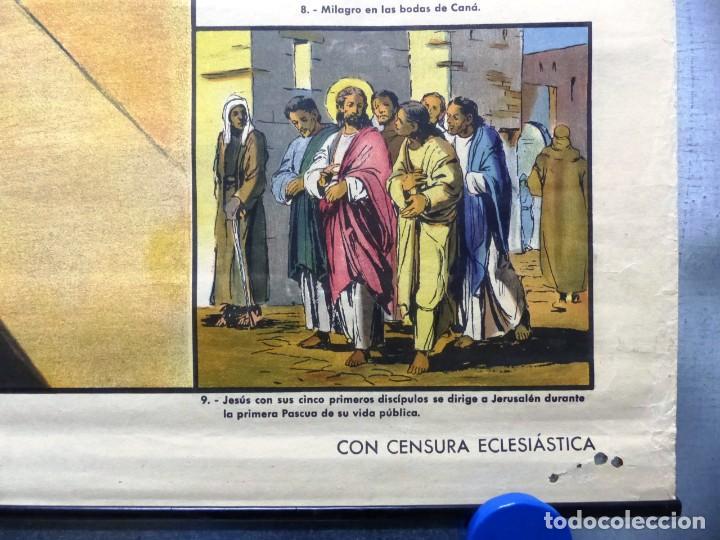 Arte: 10 LAMINAS MURALES DE HISTORIA SAGRADA, ED. SEIX BARRAL, AÑOS 1950 - VER FOTOS ADICIONALES - Foto 23 - 246644880